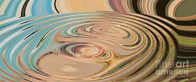Abstract Rose Oval Digital Art - Oasis by Loredana Messina