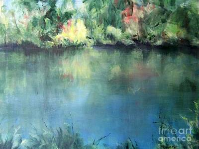 Art Print featuring the painting Oasis by Mary Lynne Powers