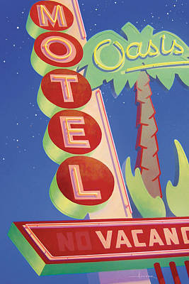 Painting - Oasis Motel by Larry Hunter