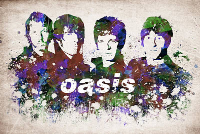 Rock And Roll Royalty-Free and Rights-Managed Images - Oasis Portrait by Aged Pixel