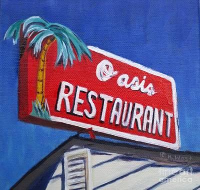 Oasis Restaurant Art Print by Katrina West