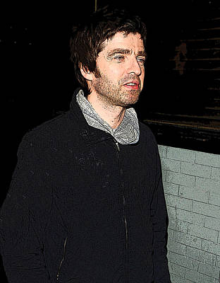 Black And White Flower Photography - Oasiss Noel Gallagher by Paul Sutcliffe