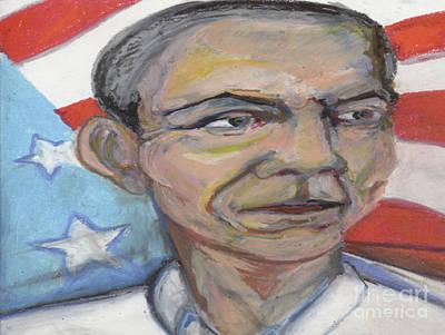 Obama 2012 Art Print by Derrick Hayes