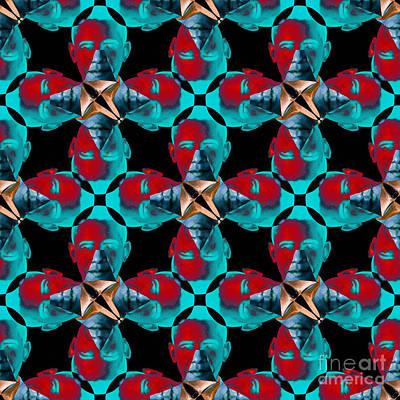 Obama Abstract 20130202m180 Art Print