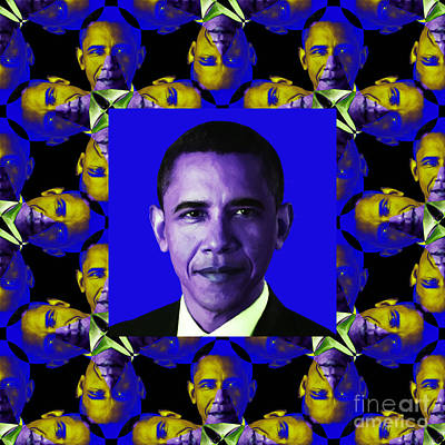 Barack Obama Digital Art - Obama Abstract Window 20130202m118 by Wingsdomain Art and Photography