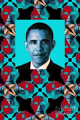 Obama Abstract Window 20130202verticalm180 Art Print