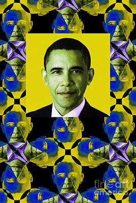 Obama Abstract Window 20130202verticalp55 Art Print