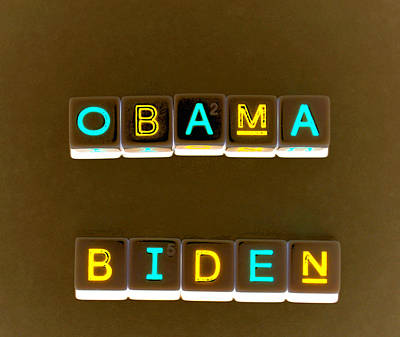 Joe Biden Wall Art - Photograph - Obama Biden Words. by Oscar Williams