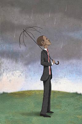 Obama Coming Storm Art Print