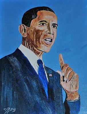Obama Mixed Media - Obama by Deborah Stanley