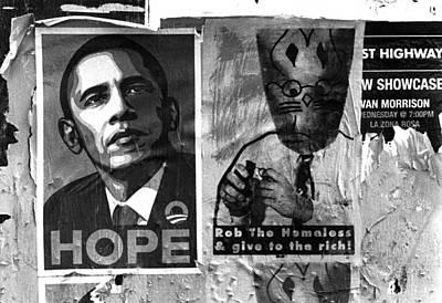 Obama Election Poster Art Print