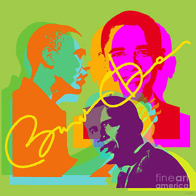 Digital Art - Obama by Jean luc Comperat