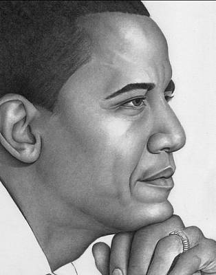 Barack Obama Drawing - Obama by Ron Watson