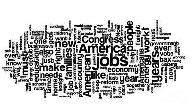 The Obamas Photograph - Obama State Of The Union Address - 2013 by David Bearden