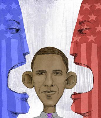 Obama Art Print by Steve Dininno