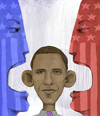 Obama Poster Digital Art - Obama by Steve Dininno