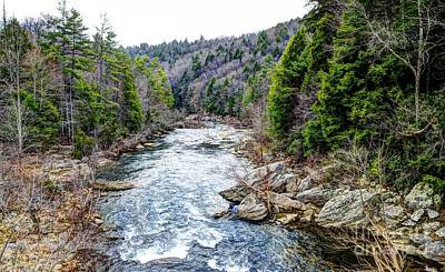Obed Photograph - Obed River Looking South by Paul Mashburn