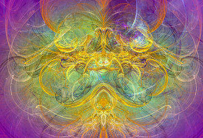 Obeisance To Nature - Spiritual Abstract Art Art Print