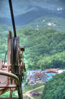 Photograph - Ober Gatlinburg Lift by Mark Bowmer