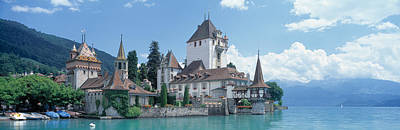 Castle Photograph - Oberhofen Castle Lake Thuner Switzerland by Panoramic Images
