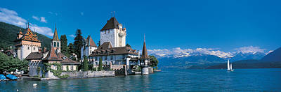 Oberhofen Castle W\ Thuner Lake Art Print by Panoramic Images