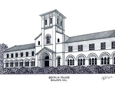 Drawing - Oberlin College by Frederic Kohli