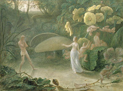 Fairies Photograph - Oberon And Titania, A Midsummer Nights Dream, Act II, Scene I, By William Shakespeare 1566-1616 by Francis Danby