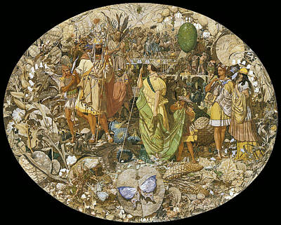 Digital Art - Oberon And Titania Circa 1850 by Richard Dadd