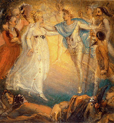 Oberon And Titania From A Midsummer Nights Dream, Act Iv Art Print