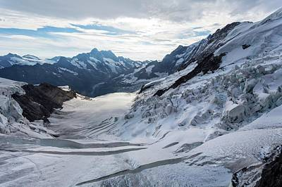 Grindelwald Photograph - Obers Ischmeer Glacier by Dr Juerg Alean