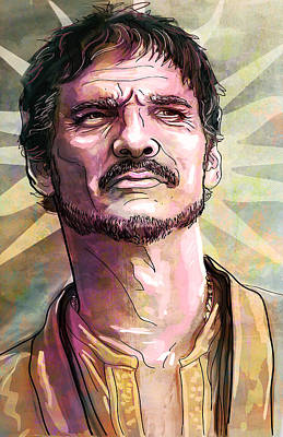 Game Painting - Oberyn by Jeremy Scott