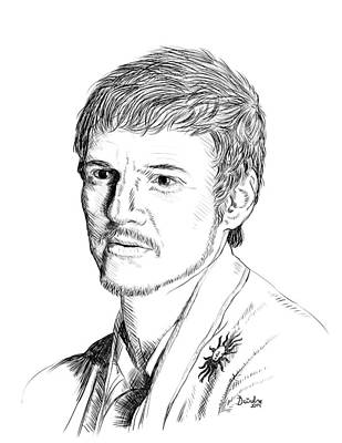 Drawing - Oberyn Martell by Deirdre DeLay