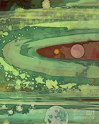 Digital Art - Orbit's End by Carol Jacobs