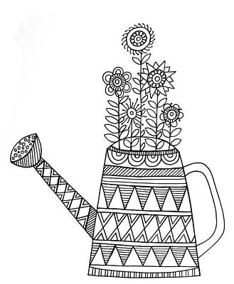 Object Watering Can Print by Neeti Goswami