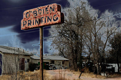 Photograph - Obrien Printing by Ric Bascobert