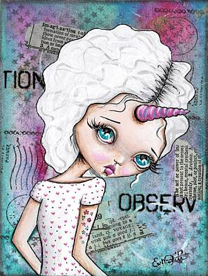 Observation Art Print by Lizzy Love of Oddball Art Co