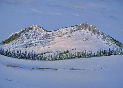 Pastel - Observation Peak by Michele Myers