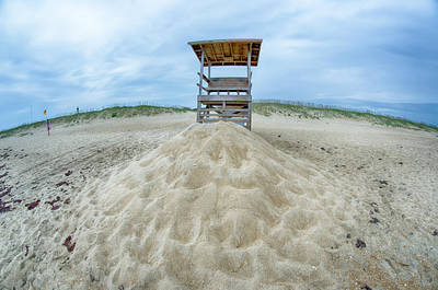 Photograph - Observation Tower On The Beach by Alex Grichenko