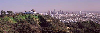 Los Angeles County Photograph - Observatory On A Hill With Cityscape by Panoramic Images