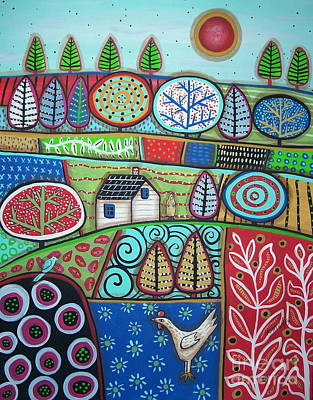 Folk Painting - Observer by Karla Gerard