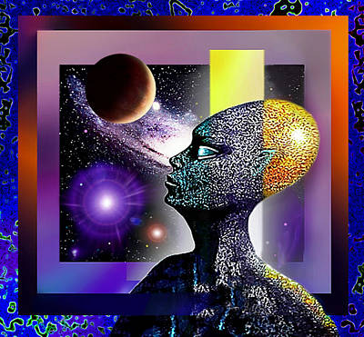 Art Print featuring the mixed media Observing The Cosmos by Hartmut Jager