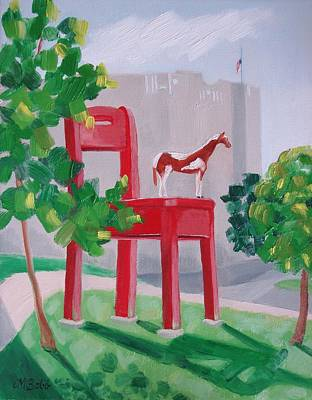 Painting - Observing The Flag At Half-mast At The Yearling To Honor Ambassador Stevens by Margaret Bobb