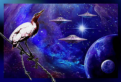 Observing The Majesty Of The Universe. Art Print
