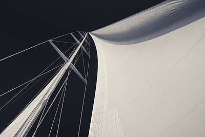 Sky Photograph - Obsession Sails 3 Black And White by Scott Campbell