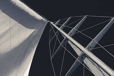 Photograph - Obsession Sails 6 Black And White by Scott Campbell