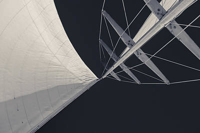 Mainsail Photograph - Obsession Sails 8 Black And White by Scott Campbell