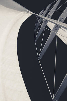Sail Photograph - Obsession Sails 9 Black And White by Scott Campbell