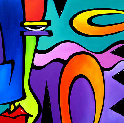 Dog Abstract Art Painting - Obstacles By Fidostudio by Tom Fedro - Fidostudio
