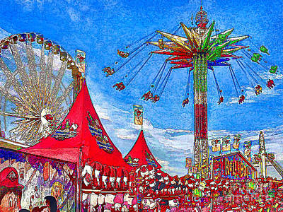 Oc Fair Fun Digitized Art Print by Jennie Breeze