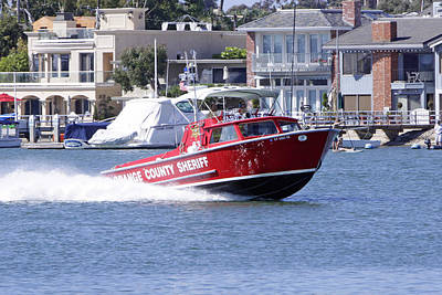 Oc Sheriff Harbor Patrol Fire Fighter Print by Shoal Hollingsworth